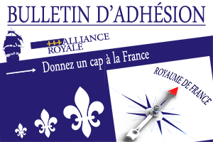 Bulletin d'adhésion à l'Alliance Royale