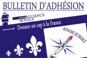 Bulletin d'adhésion à l'Alliance Royale