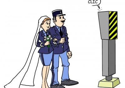 Castabé - Photo mariage gendarmerie
