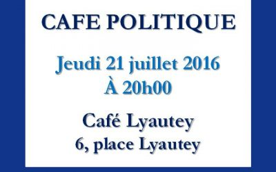 Versailles: Café politique le 21 juillet 2016