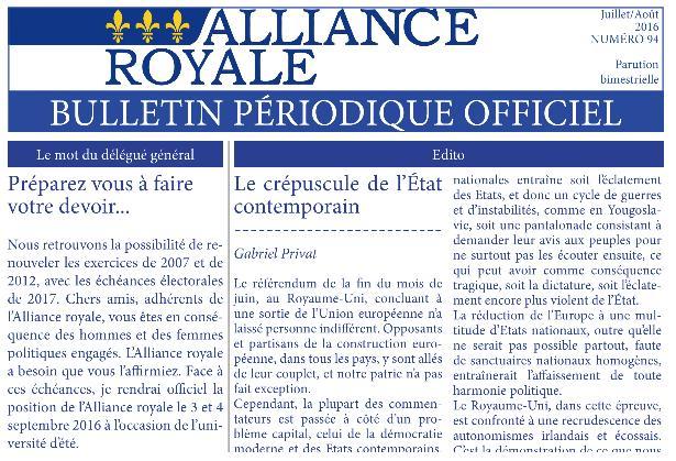 BPO Alliance Royale: Juillet-Aout