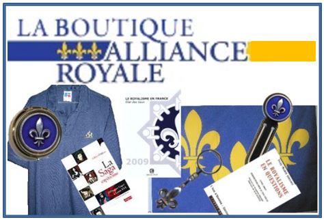 La boutique de l'Alliance Royale