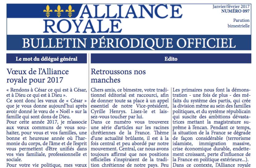 BPO Alliance royale Janvier-Février 2017