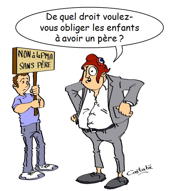 Manifestation du 6 octobre à Paris contre le projet de PMA sans père
